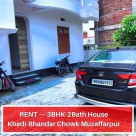 2BHK/3Bhk Spacious Ground Floor @ Khadibhandar Chowk, Muz