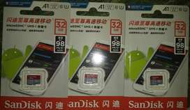 Box Packed Memory Cards - SanDisk - 32GB - FREE DELIVERY