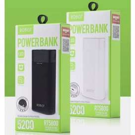 Powerbank robot 5200mah real