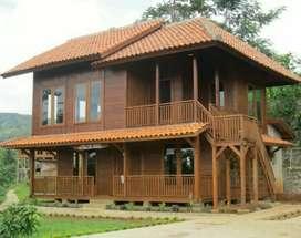 Rumah kayu pemasangan jawa tengah