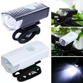 SR Lampu Led Depan Sepeda USB Charger