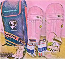 Sg complete cricket kit with free Supporter and Abdomen guard