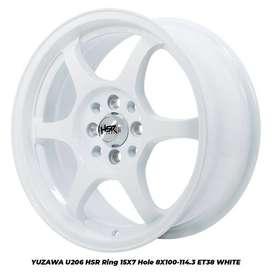 Velg New YUZAWA U206 HSR R15X7 H8X100-114,3 ET38 WHITE
