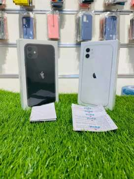 New - iPhone 11 - 128 GB - white nd black color - seal pack - 1 yr wrt
