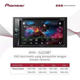 Double Din Pioneer AVH G225BT Bluetooth Udh Berikut Instalasi