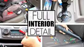 Car interior cleaning(door step)
