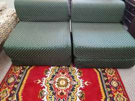 Set of two sofa cum bed