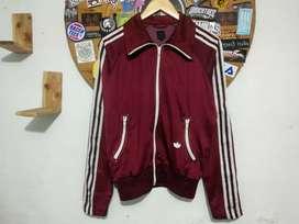 Original jaket tracktop Adidas firebird vintage maroon