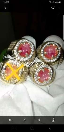 Ruby burma ring perak hand made