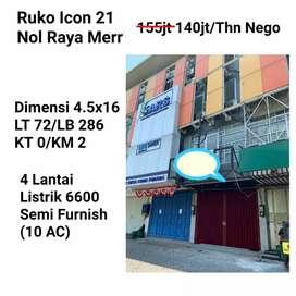 Ruko icon 21 raya merr Surabaya dekat galaxy mall Klampis Semolowaru