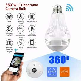 Kamera spy cctv wifi Ip wireless fish eye 360 bohlam lampu