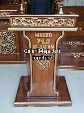 Mimbar masjid feed motif E835 kayu jati