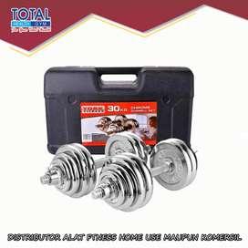 Dumble set chrome beban 30 kg Total Fitness