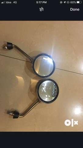 Round bike mirrors