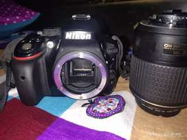 Nikon D5300 for sale with new lens 55-200mm vr