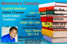Std 9th 10th online english medium classes