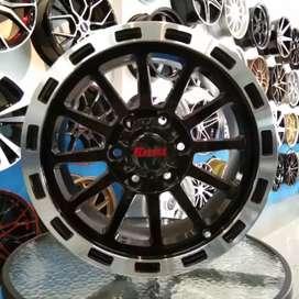velg TORQ ring17×9.0 H6×139.7 untuk mobil hilux pajero