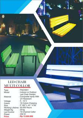 LED CHAIR MULTICOLLOR - LED KURSI TAMAN KOTA MURAH