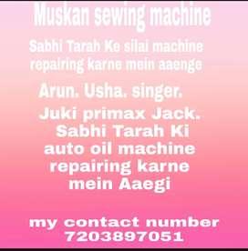 Muskan sewingmachine.Ghar Baithe silai machine repairingkarnemeinAaegi
