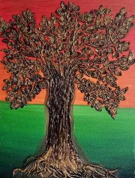Canvas Clay Art