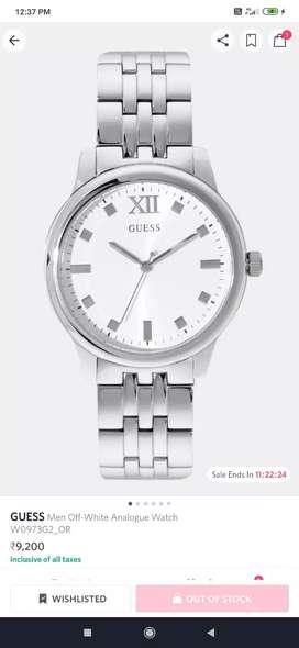 Guess Men white analog watch W0973G2_OR