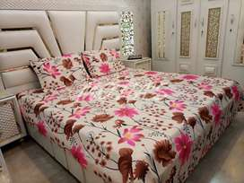 Crystal cotton king size bed sheet