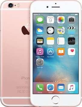 I phone 6s 64 Gb rose gold bill box charger hedphone sb saman hai all