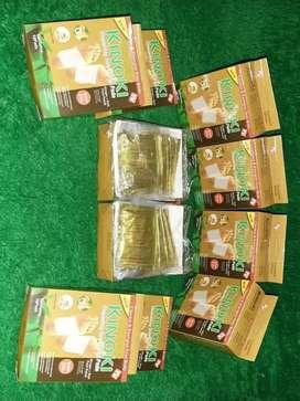 1 BOX ISI 10PAD ORIGINAL KINOKI GOLD Koyo Herbal Kaki Kinoki Detox