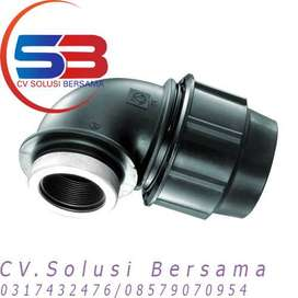 Fitting  Compression HDPE Female Elbow Termurah