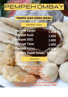 Open order pempek ikan & tekwan asli palembang