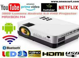 4K 3800 LUMENS M4 YOUTUBE WIFI ANDROID VIDEO PROJECTOR HDMI USB VGA