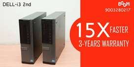Home Delivery | 3 Years Warranty | HDD 500gb | 120gb SSD | Dell i3 2nd