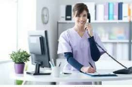 HOSPITAL RECEPTIONIST WANTED GOOD LOOKING GIRL