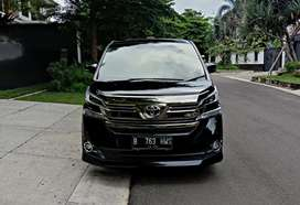 TERMURAH Vellfire G ATPM 2017 Hitam AT km 60 rb Like New bs Nego