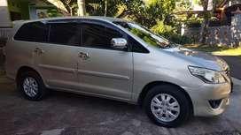 Innova diesel tipe G tahun 2012 pengguna pribadi