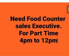 Food Counter sales executive