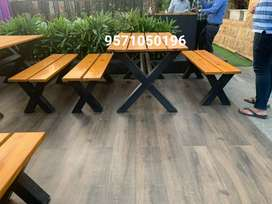 Brand new iron and wooden restaurant furniture