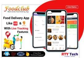 Multi vendor Food Delivery App Like Swiggy and Zomato