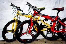 Alloy rim cycle foldable landrover