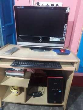 Desktop with in built tv