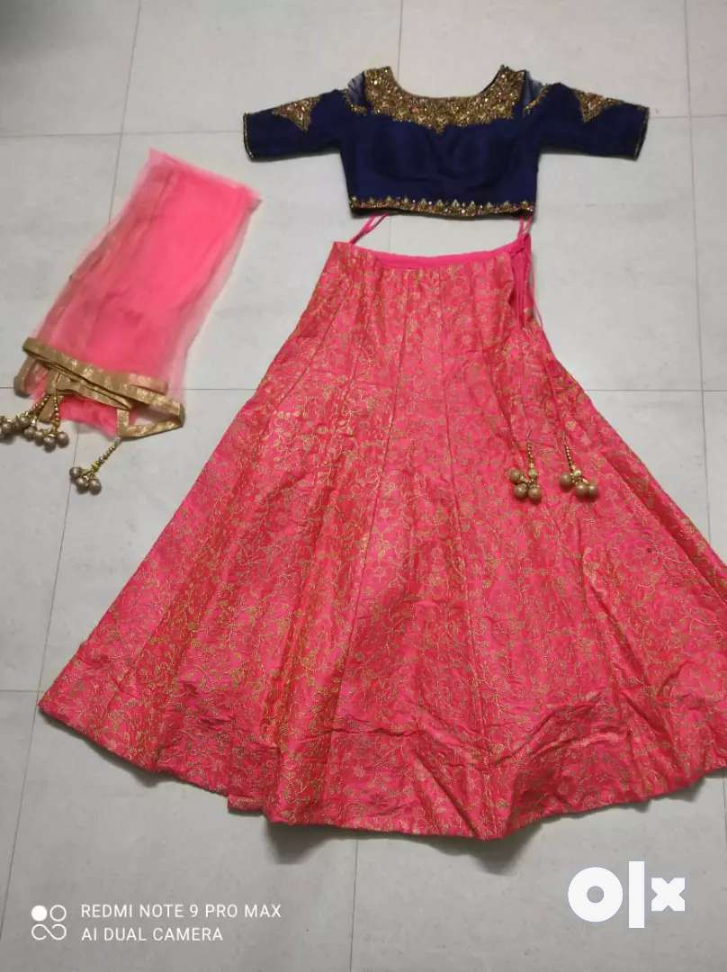 Magento Pink georgette indo wester lehenga with choli - Brand New