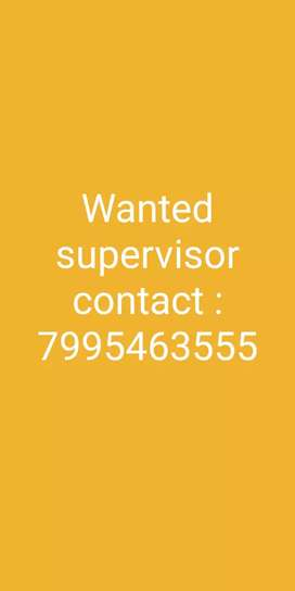 Wanted supervisorin in pakala we need more experience in e-commerce