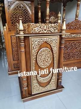 Mimbar masjid khutbah ceramah podium Mimbar kayu jati