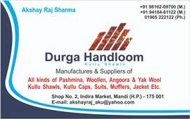 Sales man required for a shawls showroom in mandi