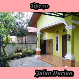 Rumah sertifikat hak milik tipe 70 dijalan durian,pekanbaru