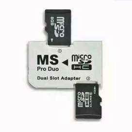 Adapter Memory Pro Duo/ProDuo Dual Slot PhotoFast for Sony PSP
