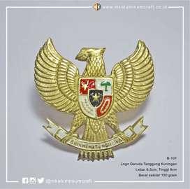 Emblem Logo Garuda Pancasila Kuningan 9 cm
