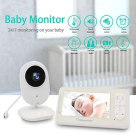 Wireless Video Color Baby Monitor with 4.3Inches LCD 2 Way Audio Talk