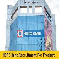 Opening In banking sector for fresher or experience