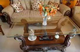 Sofa set and dining table double bed washing machine